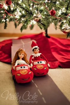 Awesome Elf on the Shelf Ideas for Cars fans! My son would LOVE this!