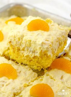 Pig Pickin Cake, also known as Mandarin Orange Cake