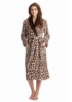 N Natori  Animal Cashmere Fleece Robe