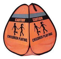 Novus Children at Play Weighted Pop Up Orange Safety Cone Sign With Reflective Tape (1 Pack) Novus http://www.amazon.com/dp/B00V176KUK/ref=cm_sw_r_pi_dp_x.L2vb15PV096