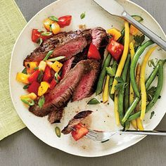 Peppered Flank Steak and Salsa Recipe | CookingLight.com