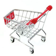 LandFox Toy,Mini Supermarket Handcart Shopping Utility Cart Mode Storage Basket Desk,Pink *** Look into the picture by seeing the link. (This is an affiliate link). Kitchen Storage Cart, Rolling Storage Cart, Storage Baskets, Children's Play Shop, Toy Supermarket, Remote Control Holder, Utility Cart, Mini, Stainless Steel Material