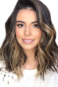 Brown Ombre Hair, Brown Blonde Hair, Ombre Hair Color, Brown Hair Colors, Dark Hair, Blonde Hair To Brunette, Ombre On Short Hair, Long Short Hair, Short Brown Hair With Blonde Highlights