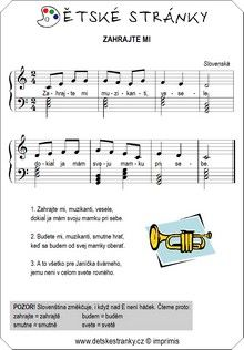 Zahrajte mi Image Search, Sheet Music, Words, Taking Notes, Music Sheets, Horse