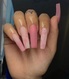 Bling Acrylic Nails, Simple Acrylic Nails, Square Acrylic Nails, Best Acrylic Nails, Summer Acrylic Nails, Bling Nails, Light Pink Acrylic Nails, Marble Acrylic Nails, Matte Pink Nails