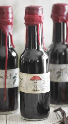 Homemade Vanilla Extract in Wax-Sealed Bottles from Sprinkle Bakes. What an awesome holiday gift idea! I might have to fish out some old sealing wax and seals. Homemade Gifts, Diy Gifts, Homemade Spices, Homemade Food, Diy Food, Food Ideas, Christmas Gifts, Holiday Gifts, Christmas Ideas