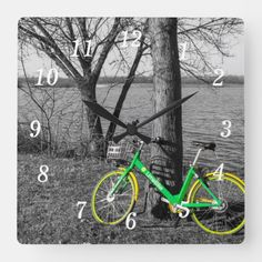 Parked At White Rock Select Square Wall Clock Lake Park, Texas Travel, Wall Clocks, Hand Coloring, Color Mixing, The Selection, Black And Grey, In This Moment, Fine Art