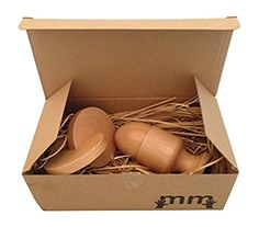 Wooden Montessori Baby Set with Egg and Cup and Interlocking Discs by Maria and Me