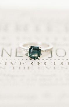 gorgeous engagement ring alternative, photo by Elizabeth Fogarty http://ruffledblog.com/patapsco-female-institute-wedding #engagementrings