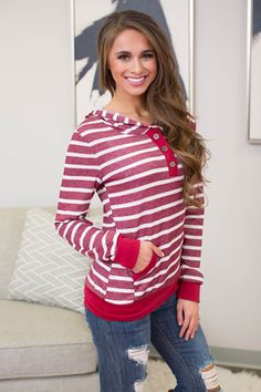Near And Far Striped Hoodie