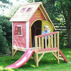 Crooked Tower Wooden Playhouse