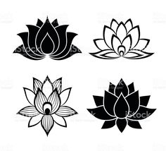 Illustration about Lotus flower signs set for the perfect web design. Illustration of lotus, design, concept - 60801568 Tatoo Lotus, Logo Lotus, Lotus Flower Art, Watercolor Flower, Lotus Flower Images, Mandala Tattoo, Arm Tattoo, Lottus Tattoo, Logo Fleur