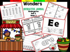 """This Kindergarten interactive journal is aligned to Common Core and to the McGraw Hill Wonders series for Unit 5-Week 2. This highly INTERACTIVE journal is ideal for teaching all of this week's skills in a powerful, student-friendly way!Complete Set Includes:Mini Anchor Chart/Activities for Letter """"Ee"""", Main Topic and Details, and Genre (Information)""""Ee"""" Handwriting PracticeMain Topic and Details Graphic Organizers for """"A Grand Old Tree"""", """"Froma Seed to a Tree"""", and """"Ed and Ned""""Review Words ..."""