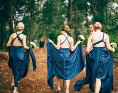Love the way sexy backs of these Nautical Navy Goddess By Nature Signature Gowns shimmer and shine in bride Loren's wedding photos.  gorgeous ladies! www.goddessbynature.com  #goddessbynature #bridalparty #bridesmaids #bridesmaiddresses #bridetobe #wedding #weddinginspiration #weddingideas #multiwaydress #navywedding #bridesmaidsdress #bridesmaidsdresses #bridesmaiddress #weddingphoto #outdoorwedding #countrywedding #weddingstyling #weddingplanning #weddingfashion #weddingfash #engaged