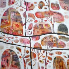 rosetta santucci, saw one of her paintings a few years ago in a gallery near melbourne.One of hers is above Nina's bed in Offspring. Tree Artwork, Collage, Abstract Art, Abstract Paintings, Watercolour Painting, Wow Art, Indigenous Art, Art Pictures, Art Images