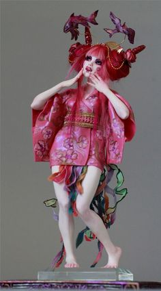Flying Fish Geisha Harajuku Fantasy Sculpture OOAK by Nicole West | eBay