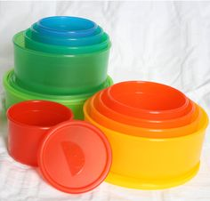 I admit it. I get silly amounts of happy over some goofy stuff. For example, my tupperware pleases me to no end. But it's not just any tupperware, it's Portionware! The Portionware co… Portion Control Containers, Tupperware, Food Storage, Tableware, Happy, Pretty, Dinnerware, Preserving Food, Dishes