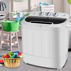 SUPER DEAL Portable Compact Mini Twin Tub Washing Machine w/ Wash and Spin Cycle Built-in Gravity Drain Capacity For Camping Apartments Dorms College Rooms RVs Delicates and more & Dryers Compact Washing Machine, Washing Machine Reviews, Mini Washing Machine, Washing Machines, Portable Washer And Dryer, Mini Washer And Dryer, Spin Dryers, Compact Laundry, Washer Machine