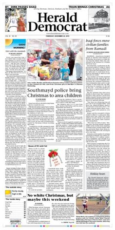 A preview of Thursday's front page. See more at heralddemocrat.com.