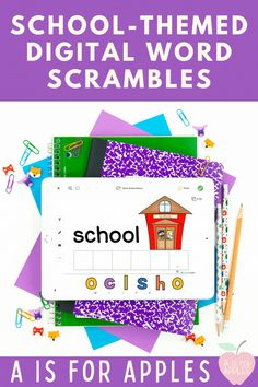 Use these digital word scrambles as a word work activity during back to school! Help your Kindergarten students learn school-themed vocabulary and practice their letter identification with word scrambles. This digital, paperless activity can be used on PowerPoint, the Seesaw app, and Google Slides.