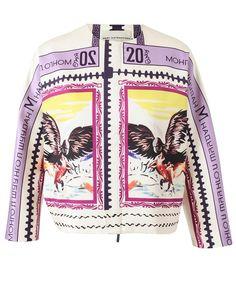 MARY KATRANTZOU | 'Delta' Printed Silk Jacket