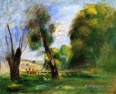 Pierre Auguste Renoir Landscape With Dead Tree oil painting reproductions for sale