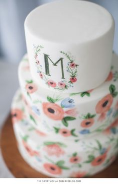 10 Watercolor Cakes | including this design by The SweetSide  | on TheCakeBlog.com