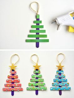 In this DIY tutorial, we will show you how to make Christmas decorations for your home. The video consists of 23 Christmas craft ideas. Christmas Crafts For Kids To Make, Handmade Christmas Decorations, Kindergarten Christmas Crafts, Homemade Christmas Gifts, Diy Christmas Videos, Diy Christmas Ornaments, Craft Stick Crafts, Kids Christmas, Holiday Crafts