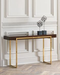 Looking for a console table to complete your home decor? See some luxury console table design inspirations at Maison Valentina Console Table Living Room, Modern Console Tables, Console Table Decor, Luxury Furniture, Home Furniture, Furniture Design, Furniture Online, Furniture Cleaning, Furniture Websites