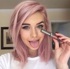 Image result for pastel pink ombre hair short