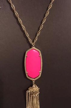SOLD My Kendra Scott Rayne In Neon Pink Custom VHTF $115 OBO  by ! Size  for $$115.00. Check it out: http://www.vinted.com/accessories/necklaces/22023121-kendra-scott-rayne-in-neon-pink-custom-vhtf-115-obo.