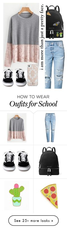 """Causal"" by tlou14hurst on Polyvore featuring WithChic, H&M, MICHAEL Michael Kors, Stoney Clover Lane, Georgia Perry and Kate Spade"