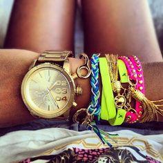 bracelets, fashion, girly, neon - image #774679 sur Favim.fr