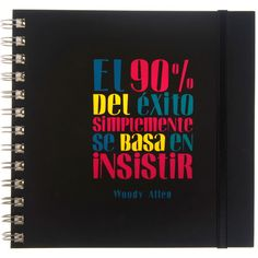 Cuaderno frase original - Woody Allen Woody Allen, Notebook, Creative Products, Creativity, Paper, Original Quotes, Feelings, The Notebook, Exercise Book