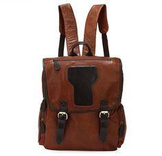Leather Backpack / Travelling Bag / Messenger / Crossbody in Vintage Brown