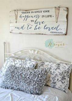 Love wood sign - 55 Awesome Farmhouse Signs Design Ideas And Decor Rustic Signs, Wooden Signs, Farmhouse Signs, Farmhouse Decor, Home Decor Signs, Diy Home Decor, Love Wood Sign, Master Bedroom, Bedroom Decor