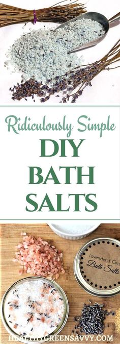 DIY bath salts are RIDICULOUSLY easy! Nothing more than mixing some epsom salts with a little essential oil, but the people you give it to will love it. #bathsalts #naturalliving #homemade gifts