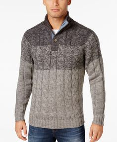 Weatherproof Vintage Men's Cable-Knit Sweater, Only at Macy's