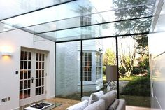 Room Outside Frameless Glass Extensions