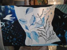 almofadas azul