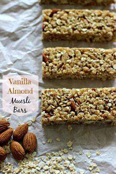 Vanilla Almond No-Bake Muesli Bars