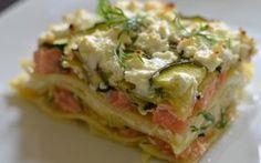 Lasagnes saumon-poireaux
