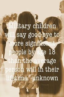 Military children say goodbye ... ~~ MilitaryAvenue.com