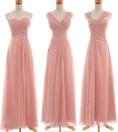 Long Blush Chiffon Bridesmaid Dress Fashion Prom Dress Formal Bridesmaid Dresses Wedding Party Dresses Bridesmaid Gown Bridesmaid Dress 2013 on Etsy, $88.00