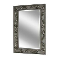 9b7f8bdec9 Deco Mirror 38 in. x 26 in. Classic Scroll Mirror in Antique Nickel-1048 -  The Home Depot