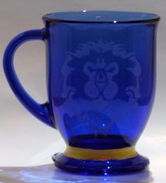 World of Warcraft Alliance inspired coffee cup on Etsy, $20.00