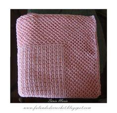 PONTO TIJOLINHO/XADREZ AJOUR Knitting Stitches, Baby Knitting, Baby E, Granny Square Blanket, Manta Crochet, Crochet Bebe, Baby Blanket Crochet, Crochet Blankets, Crochet Clothes