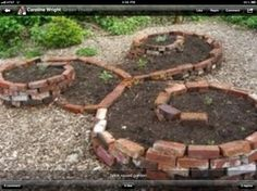 Use old bricks or stones make a raised bed that is so artsy for your veggies or flowers Have your kids draw it out then have them help you put together great way to have family fun that also helps your yard your meals etc #Pin By:Pinterest++ for iPad# - cute idea!