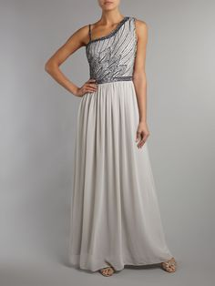 JS Collections Leaf beaded chiffon dress #houseoffraser http://ow.ly/oJb8X