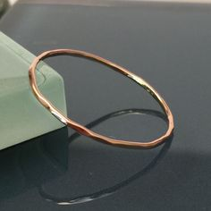 Final Price! Pink Rose Gold Thin Stack Ring